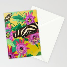 Butterflies on Passion Flowers Stationery Cards