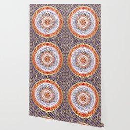 Violet Baroque Mandala Wallpaper