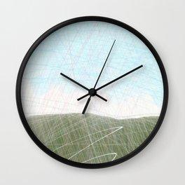 Mist Hills Wall Clock