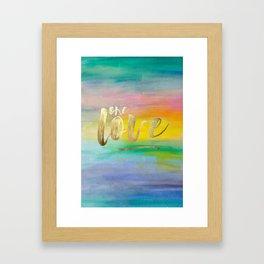 One Love, Ocean Sunrise 2 Framed Art Print