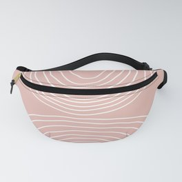 Hand drawn Geometric Lines in Vintage Pink (Rainbow Abstraction) Fanny Pack