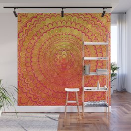 Aztec Flower Mandala Wall Mural