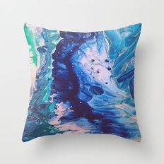 Aquatic Meditation Throw Pillow