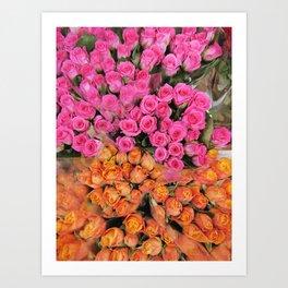 Columbia Road Bouquets Art Print