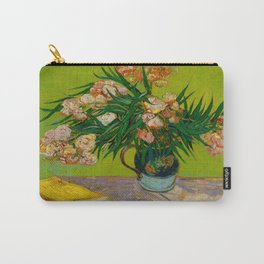 Oleanders Vincent van Gogh Oil On Canvas Floral Still Life Painting Carry-All Pouch