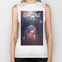 explore Biker Tanks featuring Explore by Isaak_Rodriguez