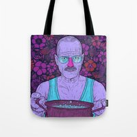 cook Tote Bags featuring Cook (fiolet) by Lime