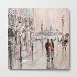 A rainy day in Venice Metal Print