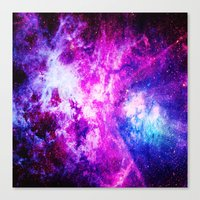 nebula Canvas Prints featuring nebuLA by 2sweet4words Designs