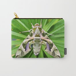 Oleander Hawk Moth on Radiating Plant Carry-All Pouch