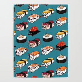 Sushi Frenchie Poster