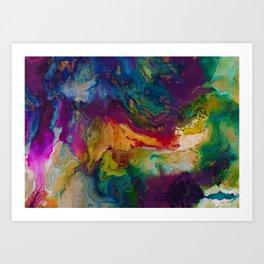 modern marble m Art Print