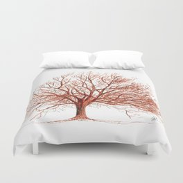 Lonely tree in autumn Duvet Cover