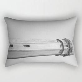 Alcatraz Lighthouse (Black and White Version) Rectangular Pillow