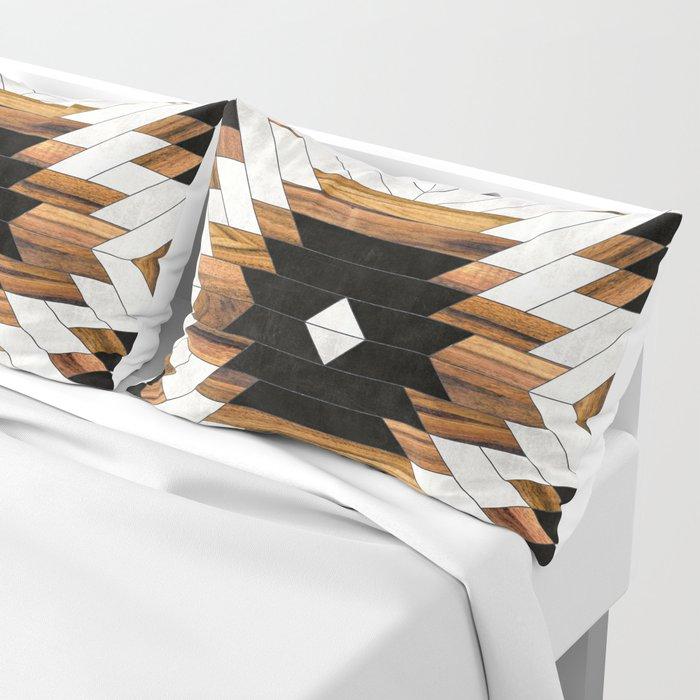 Urban Tribal Pattern 5 - Aztec - Concrete and Wood Pillow Sham