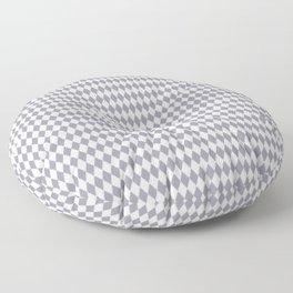 Pantone Lilac Gray Rippled Diamonds, Harlequin, Classic Rhombus Pattern Floor Pillow