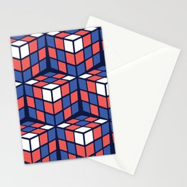 cascade - red/white/blue Stationery Cards