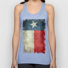 Texas state flag, Vintage banner version Unisex Tank Top