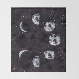 Lunar Cycle Throw Blanket