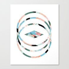 Abstract Brushstroke Circles Canvas Print