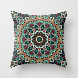 Mandala, folk Throw Pillow