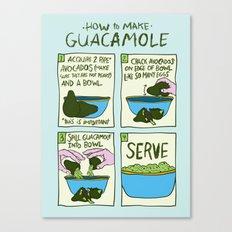 HOW TO MAKE GUACAMOLE Canvas Print