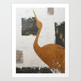 The heron Art Print