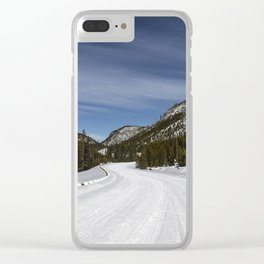 Carol Highsmith - Snow Covered Road Clear iPhone Case