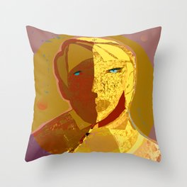 Mars and Venus Throw Pillow