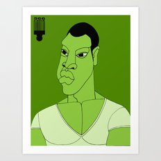 1001 Black Men--#566 Art Print