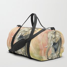 Mom and Baby Elephant Duffle Bag
