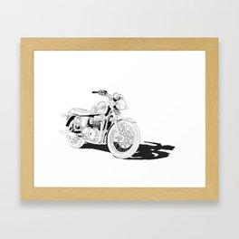 Freedom on a motorbike Framed Art Print