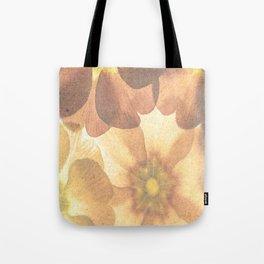 Orange Effect Flowers Tote Bag