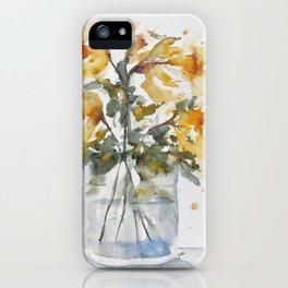 Essence of Daffodil in Watercolor iPhone Case