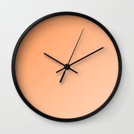 Light Orange and Peach Gradient Ombré  Wall Clock