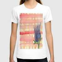 plaid T-shirts featuring plaid & thistle by Louisa Stickney-Keats