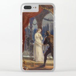 Vintage Romeo and Juliet Painting (1861) Clear iPhone Case