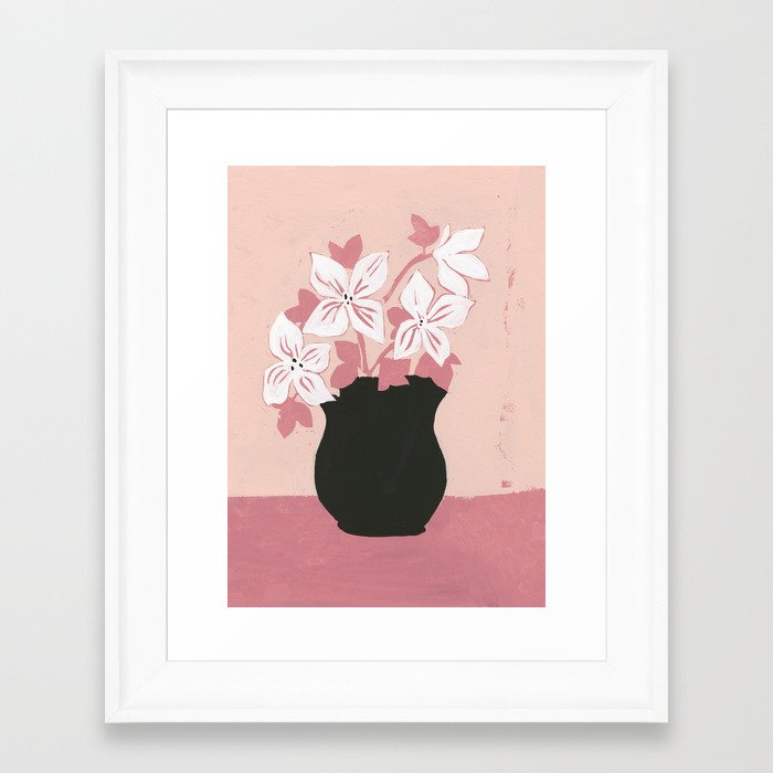 Gretchen Floral Gerahmter Kunstdruck