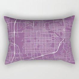 Sioux Falls Map, USA - Purple Rectangular Pillow