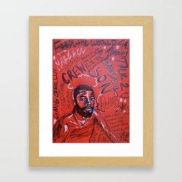 sonderson,brent faiyaz,poster,art,wall art,decor,music,rnb,lyrics,colourful,colorful,cool,dope,post Framed Art Print