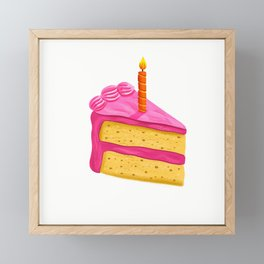 Birthday Cake Framed Mini Art Print
