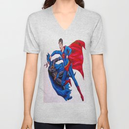 Final Showdown: Superhero Edition Unisex V-Neck