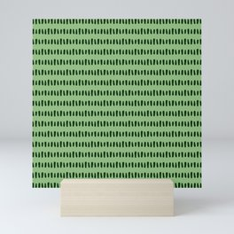 Bold Pattern Grass Mini Art Print