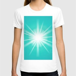turquoise and light effect T-shirt
