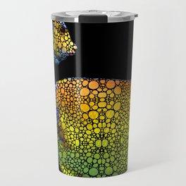 Tropical Fish 12 - Abstract Art By Sharon Cummings Travel Mug