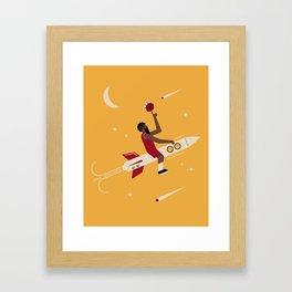 Houston Basketball Framed Art Print