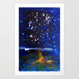 """""""El centro del mundo"""" / Existencia Art Print"""