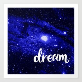Blue Galaxy Dream Art Print