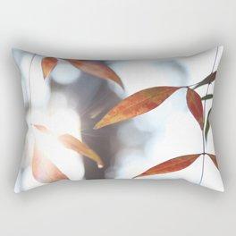 Orange Leaves in the Sunlight Rectangular Pillow