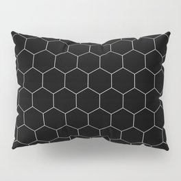 Simple Honeycomb Pattern - Black & White -Mix & Match with Simplicity of Life Pillow Sham